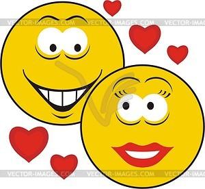 Liebe Smilies - Vektorgrafik