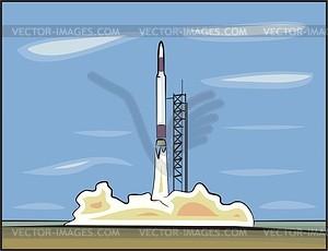 Start von Rakete - Vector-Bild