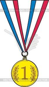 Sportliche Goldmedaille - Vektorgrafik