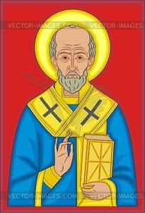 St. Nikolaus - Vektorgrafik