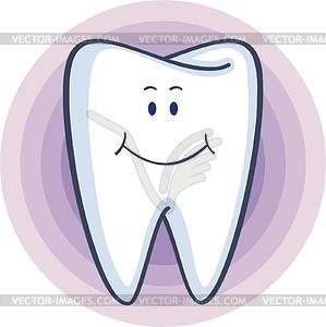 Lächelnder Zahn - Vektorgrafik
