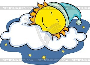Schlafende Sonne - Vektorgrafik