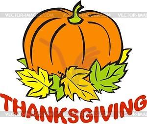 Thanksgiving Tag - Vektor-Clipart / Vektorgrafik