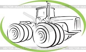 Traktor - Vektorgrafik-Design