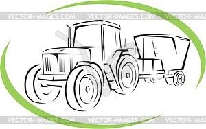 Traktor - Vektor-Klipart