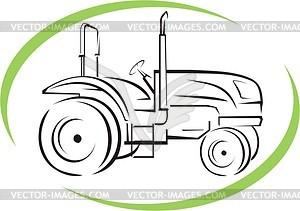 Traktor - Vektor Clip Art