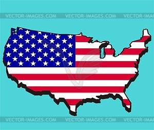 Karte der USA - Vektor-Clipart EPS