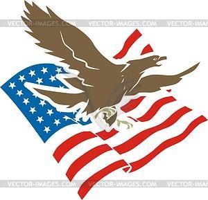 Amerikanisches Adler - Vektor-Illustration