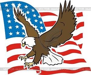 Amerikanisches Adler - Vektorabbildung