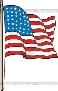US-Flagge - vektorisiertes Clipart