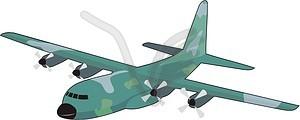 Militärflugzeuge - vektorisiertes Clip-Art