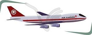 Flugzeug - Vektor Clip Art