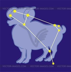 Sternbild Widder - Vektorgrafik