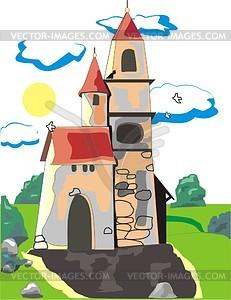 Burg - Clipart-Bild
