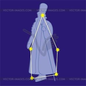 Sternbild Kepheus - Vektorgrafik