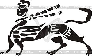 Chinesische mythische Kreatur - vektorisierte Grafik