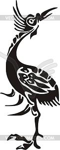 Chinesischer mythische Vogel Bi Fang - Vektorgrafik