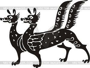 Chinesische mythische Kreatur - Vektor-Skizze