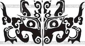 Chinesisches mythische Ungeheuer (Wasserspeier) Tao Tie - Vektorgrafik