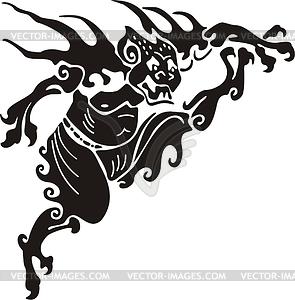 Chinesisches mythische Ungeheuer - Stock-Clipart