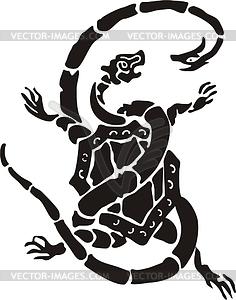 Chinesische nördliche mythische Schildkröte und Schlange - Vektorgrafik