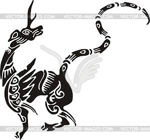 Chinesische mythische Kreatur - Vector-Bild