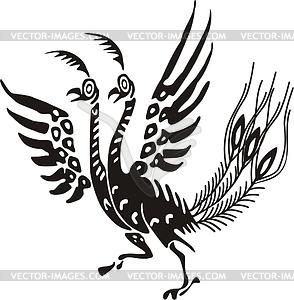 Chinesischer mythische Vogel - Vektorgrafik