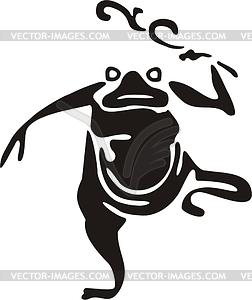 Chinesische mythische Kröte - Vektorgrafik