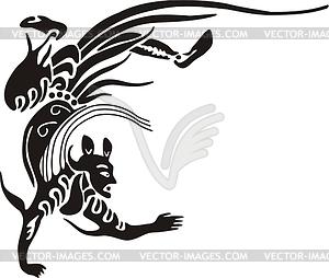 Chinesische mythische Kreatur - Vector-Clipart / Vektor-Bild