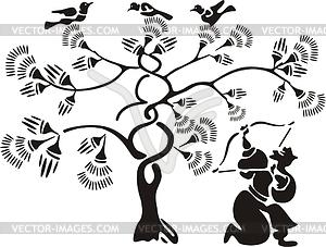 Chinesischer mythische Bogenschütze Hou Yi - Vektorgrafik