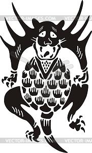 Chinesische mythische Kreatur - Vector-Clipart EPS