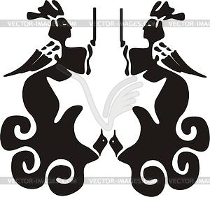 Chinesisches mythische Design - Vector-Abbildung