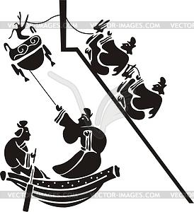 Chinesisches mythische Design - vektorisiertes Clipart