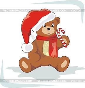 Weihnachten Bär - Stock Vektor-Clipart