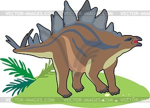 Dinosaurier - farbige Vektorgrafik