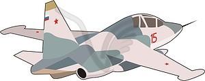 Kampfflugzeuge - Vector-Clipart