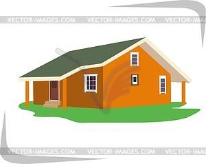 haus vector bild. Black Bedroom Furniture Sets. Home Design Ideas