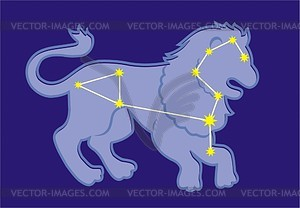 Sternbild Löwe - Vektorgrafik