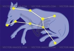 Sternbild Wolf - Vektorgrafik