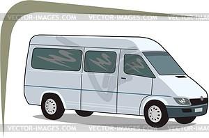 Kleinbus - Vektor-Skizze