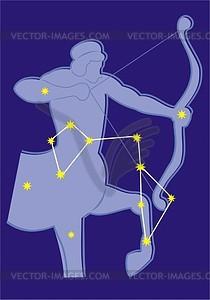Sternbild Schütze - Vektorgrafik