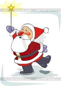 Weihnachtsmann - vektorisiertes Clip-Art