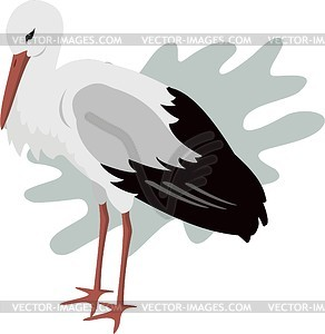 Storch - Vector-Clipart EPS