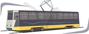 Straßenbahn - Clipart-Bild