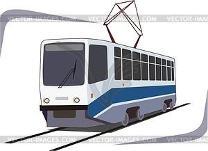Straßenbahn - Clipart-Design