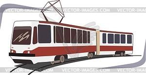 Straßenbahn - Vektor-Abbildung