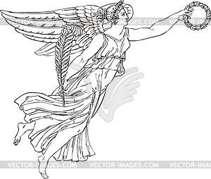 Engel als ornamentale Ecke - Vektorgrafik