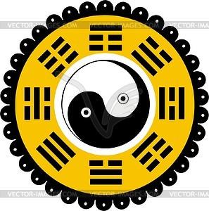Bagua (Ying-Yang) - Vektorgrafik