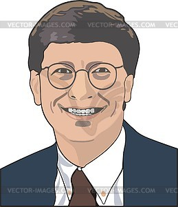 Bill Gates - Vektorgrafik