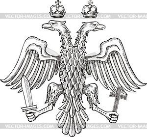 Bizantium Doppeladler (15. Jahrhundert) - Vektorgrafik